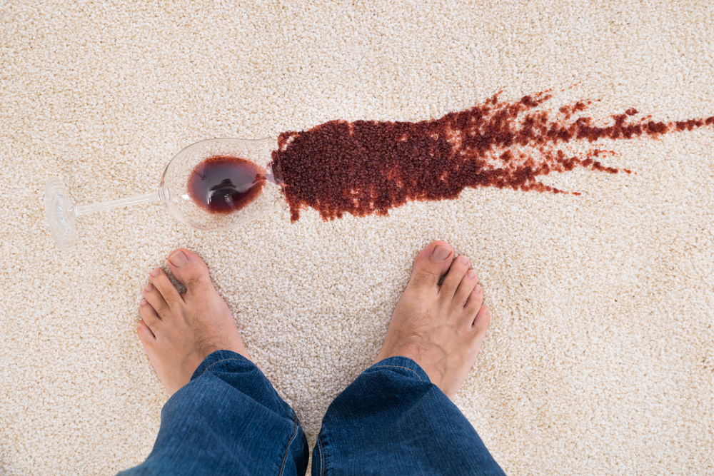 carpet stains red wine