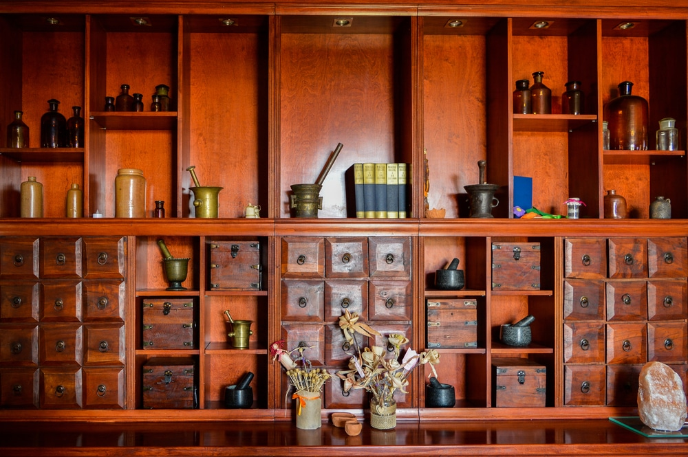 apothecary kitchen cabinets